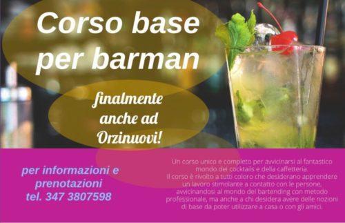 flyer corso barman
