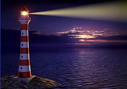 Immagine faro sul mare
