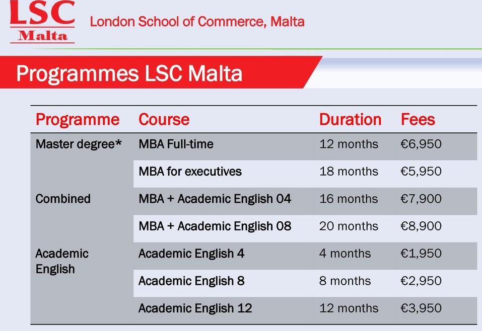 LSC Malta Program1